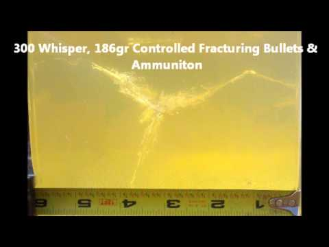 Subsonic, Controlled Fracturing, 300 AAC Blackout / Whisper, 186 gr CF, Ballistics Gel Test