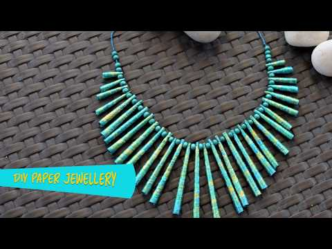 DIY Paper Jewellery Necklace