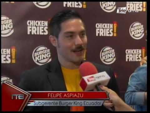 Burger King presenta Chicken Fries una manera diferente de comer pollo