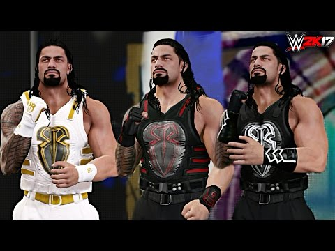 WWE 2K17 - Top 10 Roman Reigns Attires!