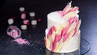 How to Make a Chocolate Brushstroke Cake