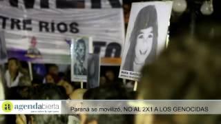 NO AL 2X1 a los GENOCIDAS - Paraná