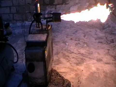 Самодельная горелка на котле