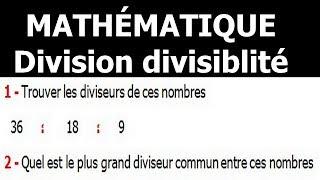 Maths 6ème - Division et divisibilité Exercice 4