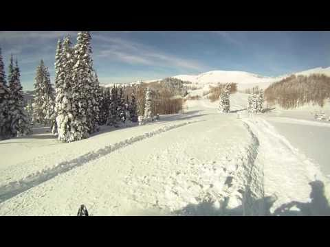 Snowmobile Freeride Utah, Noblets, Christmas Eve 2010 / GO PRO HD