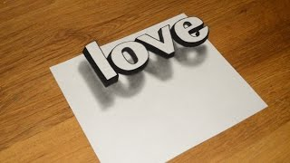 Video Simple 3D Graffiti how to draw the illusion of LOVE MP3, 3GP, MP4, WEBM, AVI, FLV Desember 2018