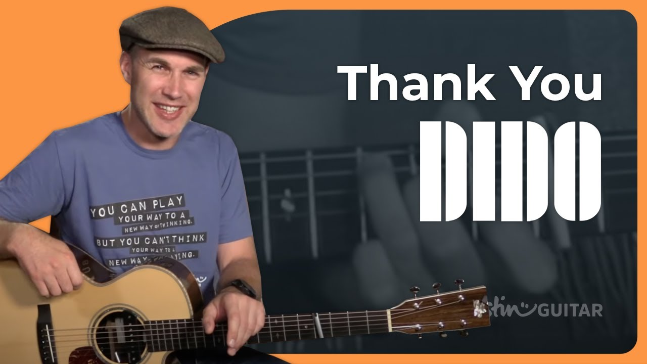 Dido – Thank You Guitar Lesson Tutorial Easy Beginner Acoustic Stan Eminem