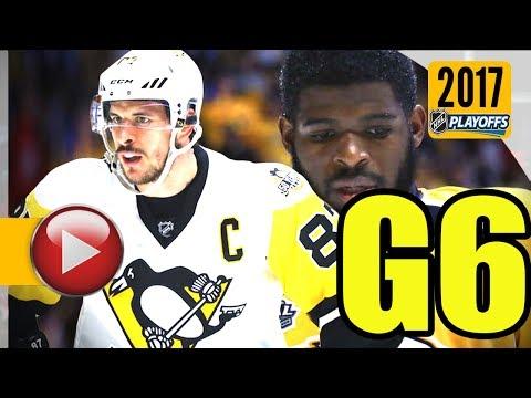 Pittsburgh Penguins vs Nashville Predators. 2017 NHL Playoffs. Stanley Cup Final. Game 6. (HD)