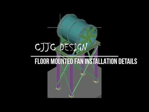 Floor MOUNTED FAN 3D