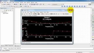 NI Multisim: AC Analysis frequency response