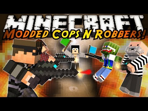 Minecraft Mini-Game : MODDED COPS N ROBBERS! PAINT BALL!