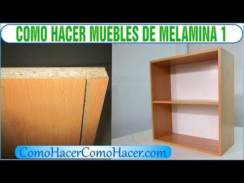 9 44 bricolaje como hacer muebles laminados de melamina for Donde aprender hacer muebles melamina