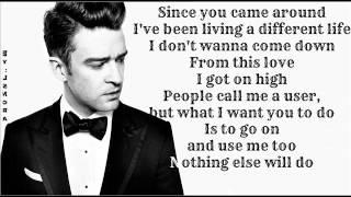 Justin Timberlake - Pusher Love Girl ( Lyrics On Screen ) 2013 ( The 20 / 20 Experience )