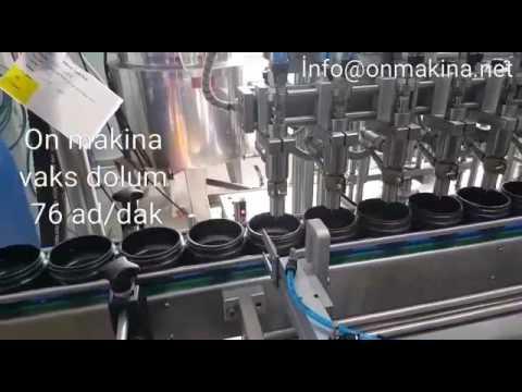 Vaks Dolum ve Krem Dolum Makinası