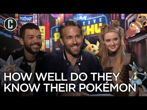 "Detective Pikachu Stars & Director Play ""Know Your Pokemon"""