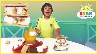 Video S'mores Maker DIY with Marshmallows Hershey's Chocolates! Ryan ToysReview Family Fun Taste Test MP3, 3GP, MP4, WEBM, AVI, FLV Agustus 2017