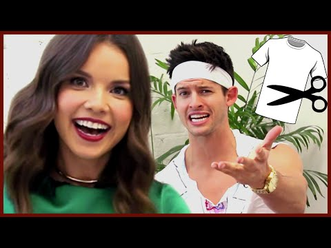 hunter - Ingrid Nilsen aka missglamorazzi stopped by AwesomenessTV to promote her new show PROJECT RUNWAY THREADS on Lifetime, but she stayed to do the white tshirt c...