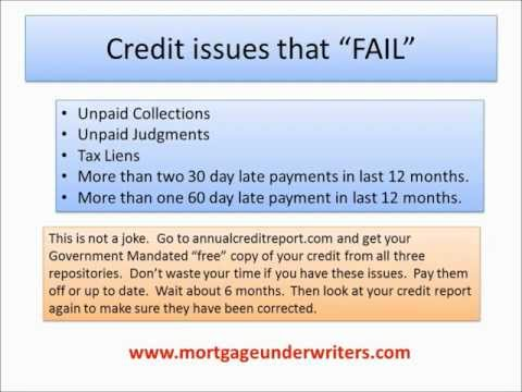 Mortgage Credit Guidelines