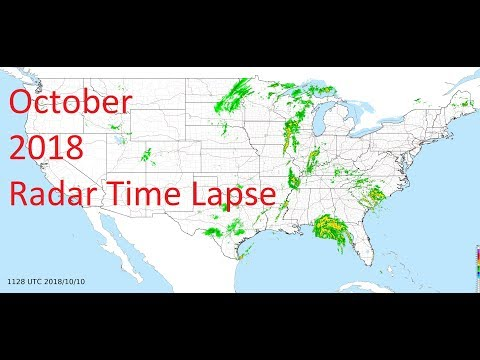 October 2018 US Weather Radar Time Lapse Animation