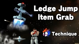 Ledge Jump Item Grab – ledge technique for R.O.B. and others for countering items