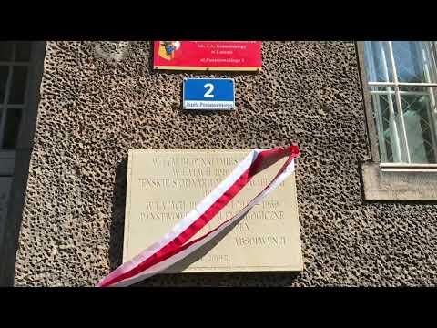 Wideo1: Odsłonięcie pamiątkowej tablicy na budynku ZSE w Lesznie