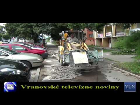 Vranov: mesto pokračuje v naplánovaných opravách ciest a chodníkov