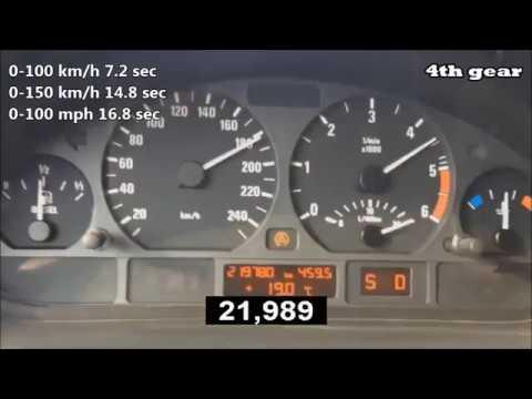 0-200 km/h acceleration BMW 330d E46 204 Hp automatic