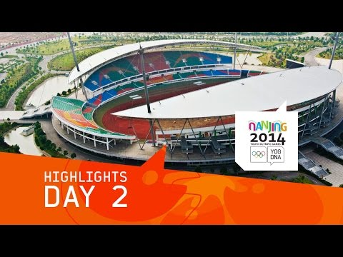2. - Highlights and Re-runs from Day 2 of the 2014 Youth Olympic Games from Nanjing, People's Republic of China. Today, medals were won in Swimming, Fencing, Judo, Shooting, Taekwondo, Triathlon...