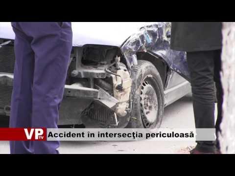 Accident în intersecţia periculoasă