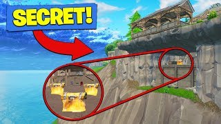 SECRET CLIFF BASE *FOUND* In Fortnite Battle Royale!