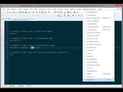 WeBuilder plugin: Math Eval