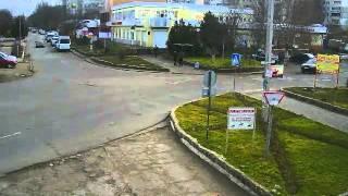 Перекрёсток в Щёлкино, 06.01.2014 - time-lapse с камеры 2