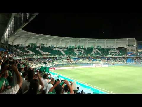 Salida deportivo cali vs peñarol tifo sur - Frente Radical Verdiblanco - Deportivo Cali