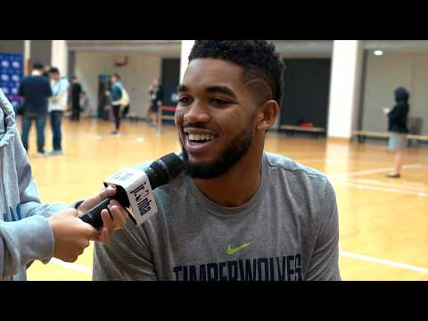 KID REPORTERS WITH KARL-ANTHONY TOWNS