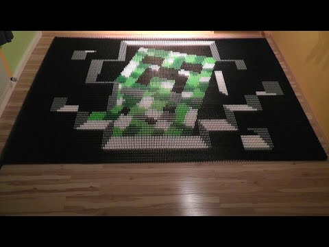 Domino Day 2011 | Minecraft Special: It's a Creeper! (14.000 Dominoes)