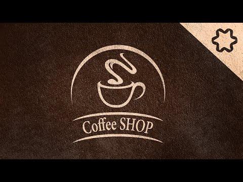 Logo Design Tutorial - Coffee Vintage Logo Design (No Speed art) - Drink Coffee Cup Logo Design