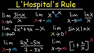 This calculus video tutorial explains the concept of L'hopital's rule and how to use it to evaluate limits associated with ...
