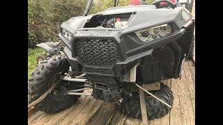 5. 2015 POLARIS RZR 1000 4 XP, DUNE BUGGY, PROJECT AFTER LEFT SIDE ACCIDENT