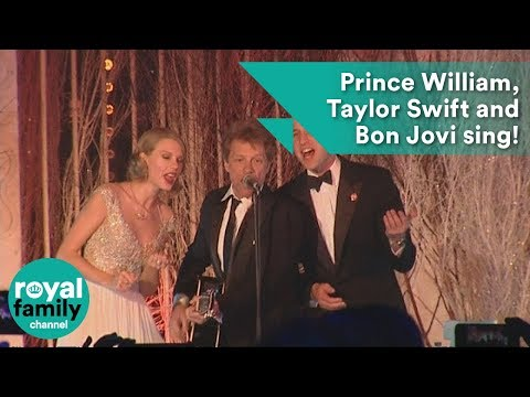 bon - Prince William sings Livin' on a prayer with Jon Bon Jovi and Taylor Swift at the Winter Whiets Gala charity ball at Kensington Palace. He's got the (slightl...