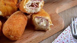 Rollitos de pollo jamon y queso Receta fácil
