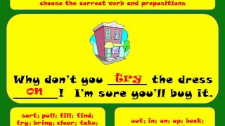 Learn English Phrasal Verbs 1, Phrasal Verbs Exercises