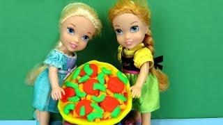 Video PIZZA Night ! Elsa and Anna toddlers make pizza MP3, 3GP, MP4, WEBM, AVI, FLV September 2018