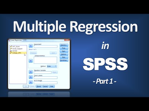 Multiple Regression in SPSS - R Square; P-Value; ANOVA F; Beta (Part 1 of 3)