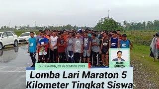 Lomba Lari Maraton 5 Kilometer Tingkat Siswa dan Pelajar di Aceh Utara