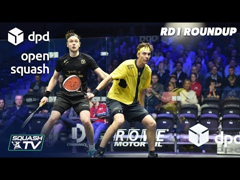 Squash: DPD Open 2019 - Men's Rd 1 Roundup