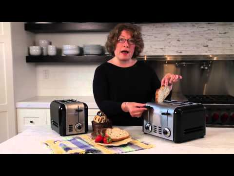 CUISINART 2-SLICE AND 4-SLICE COMPACT STAINLESS TOASTER (CPT-320 AND CPT-340) DEMO VIDEO