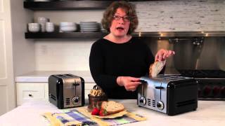 4-Slice Compact Stainless Toaster Demo Video Icon
