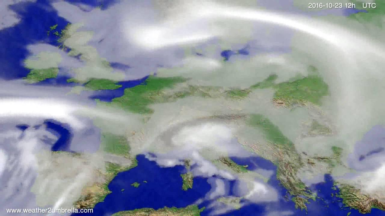 Cloud forecast Europe 2016-10-21