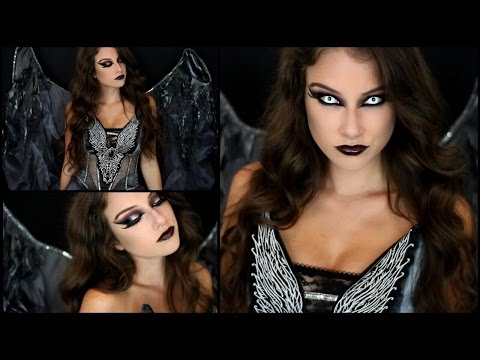 Dark Angel Halloween Makeup & Costume!
