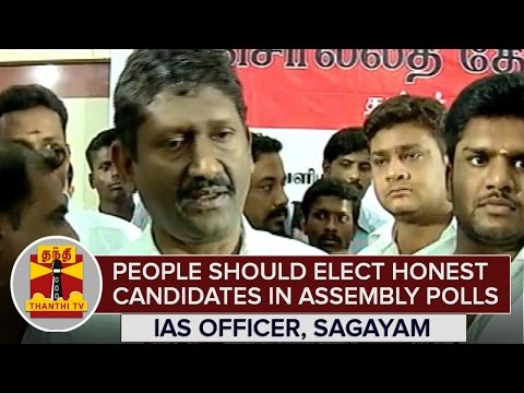 People-should-Elect-Honest-Candidates-in-2016-Assembly-Polls--IAS-officer-U-Sagayam--Thanthi-TV